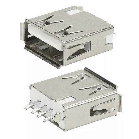 Conector USB Fêmea Tipo A 180°