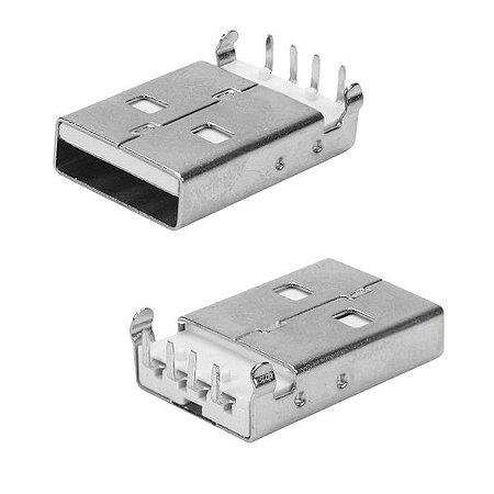 Conector USB-A-Macho Curto 90G