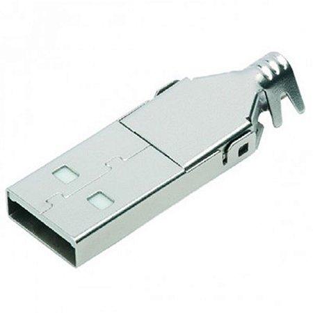 Conector USB-A-Macho para Cabo