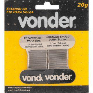 Cartela de Estanho em Fio para Solda 1,2mm - Vonder