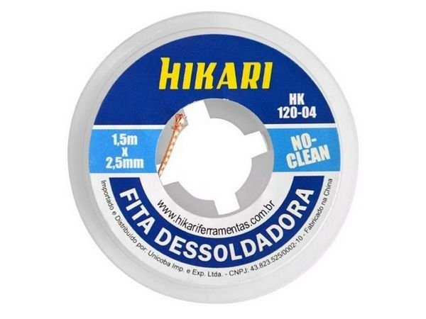 Fita dessoldadora Hikari 2,5mm HK-120-04