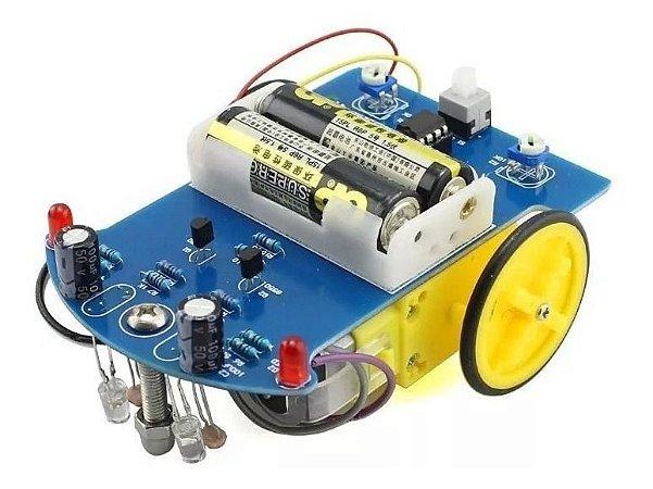 Kit Robô Seguidor de Linha 2 Rodas DIY - D2-1