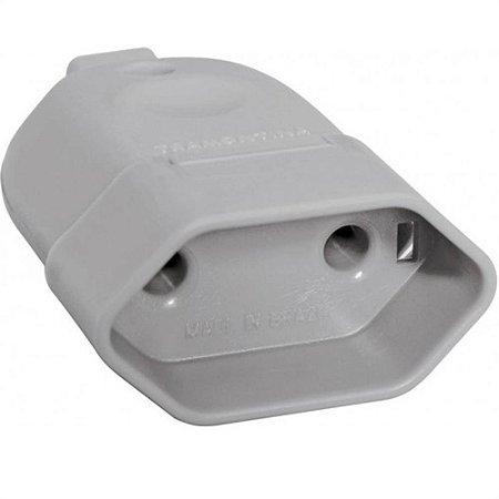 Plug Fêmea Branco/Preto 10A 250V 2 Pinos Tramontina