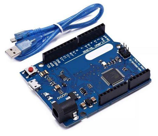 Arduino Leonardo R3 - Compatível + Cabo Micro USB 2.0