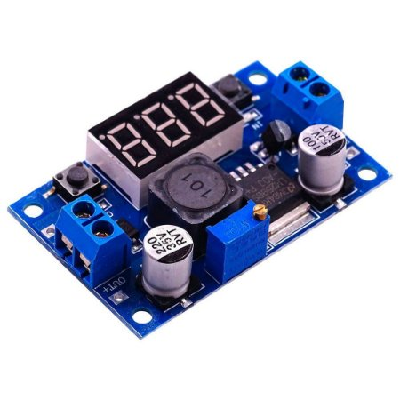 Regulador De Tensão Step-down Lm2596 Display Voltímetro