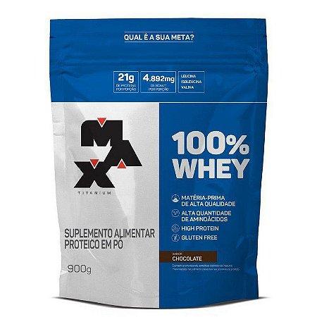 100% Whey - 900g - Max Titanium (BAUNILHA)