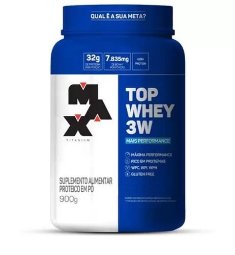 Top Whey 3w Performance - 900g - Max Titanium (MORANGO)