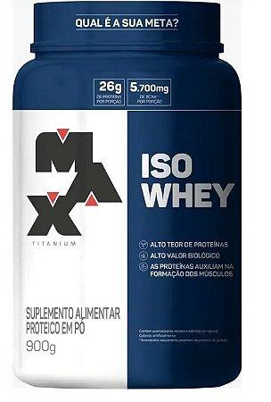 Iso Whey - 900g - Max Titanium (BAUNILHA)