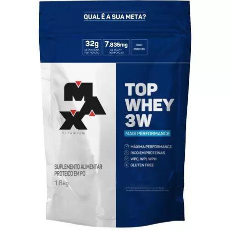 Top Whey 3W - 1.8 Kg - Max Titanium (BAUNILHA)