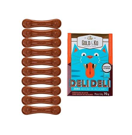 Chocolate ao Leite - 70g - Gold & Ko (Zero Adição de Açúcar)