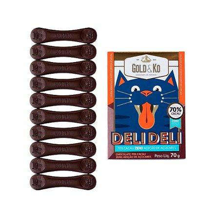 Chocolate 70% Cacau - 70g - Gold & Ko (Zero Adição de Açúcar)