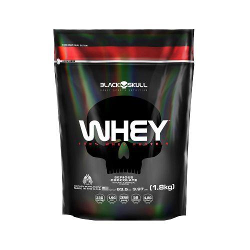 Whey 100% - Refil 1,8 kg - Black Skull