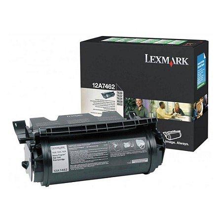 Toner Lexmark 12a7462 | T630 | T632 | T634 - Black - 21.000 Copias