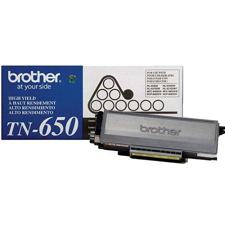 Cartucho De Toner Brother Tn-650 Preto