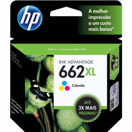 Cartucho De Tinta Hp 662xl Tri-Color (Cz106ab)