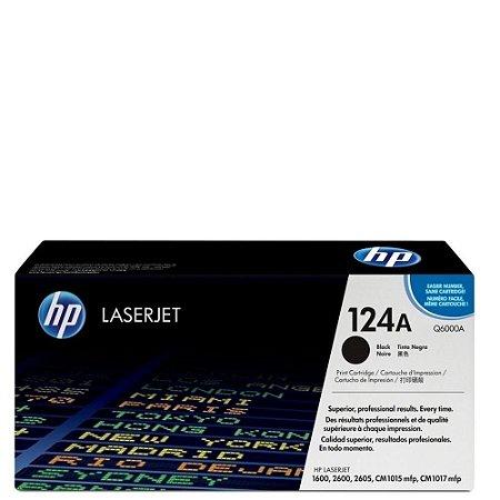 Toner Laserjet Color Q6000ab Hp 124a Preto Hp Suprimentos