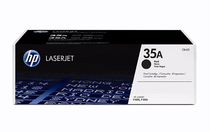 Toner Laserjet Mono Hp Suprimentos Cb435ab Hp 35a Preto P1005 / P1006