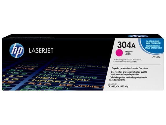Toner Hp Cc533a 304a Magenta Laserjet Cp2025 Cm2320