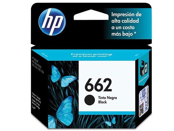 Cartucho De Tinta Ink Advantage Hp 662 Preto