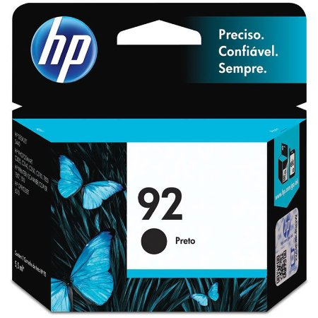 Cartucho HP 92 Preto Original (C9362WB) Para HP Deskjet 6540, 5440, Officejet 6310, PSC 1507, 1510