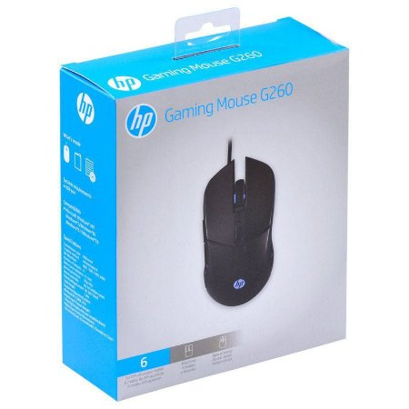 Mouse HP Gamer - G260 Black - 1000 / 2400 Dpi