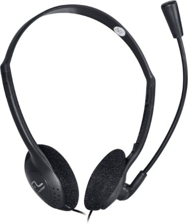 Fone de ouvido com microfone headset ph002 preto