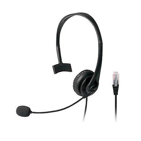 Headset Multilaser Rj9 Telemarketing Ph251 Preto