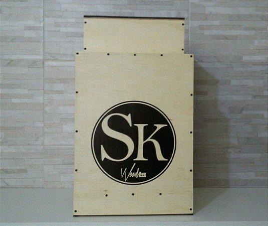 Bateria Wood Box SK Cajón Kit Compacto com Bumbo e Caixa