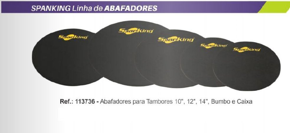 "KIT ABAFADOR  SPANKING PARA BATERIA  10"",12"",14"" ,14"" + BUMBO"