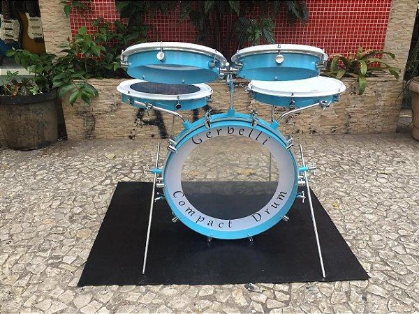 Bateria Acústica Portátil Gerbelli Ocean Blue