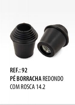 Pé de Borracha para Bumbo com Rosca Spanking 14.2 Par