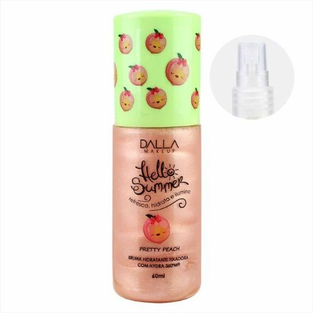 Bruma Hidratante Fixadora Hello Summer Pretty Peach - Dalla Makeup
