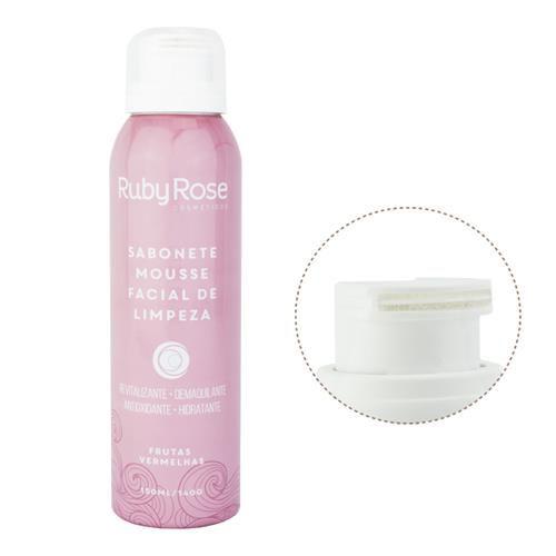Sabonete Mousse de Limpeza Facial Frutas Vermelhas - Ruby Rose