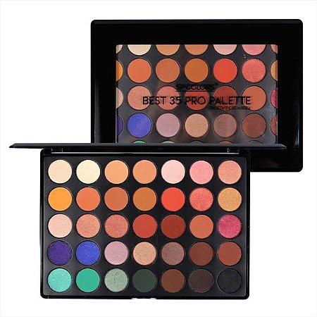 Paleta de Sombra 35 Cores Best Pro Palette - Sp Colors