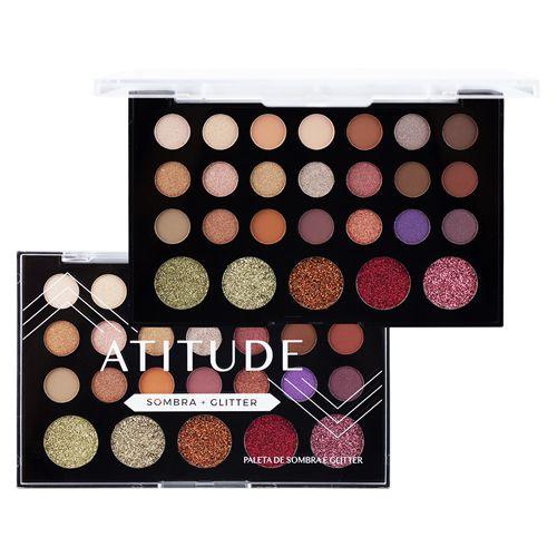 Paleta de Sombra e Glitter Atitude A - Sp Colors
