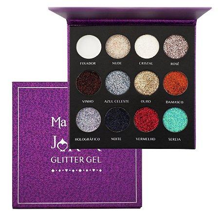 Paleta Joker Glitter Gel 11 Cores - Mahav
