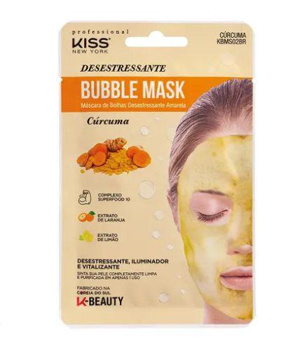 Máscara de Bolhas Desestressante Cúrcuma - Kiss NY