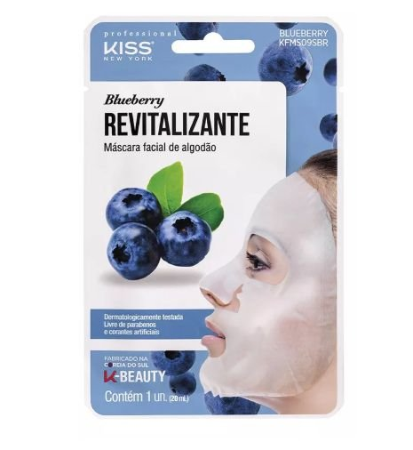 Máscara Facial Revitalizante Blueberry - Kiss NY