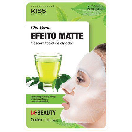 Máscara Facial Chá Verde Efeito Matte -Kiss NY