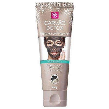 Máscara Facial Esfoliante Carvão Detox com Açúcar - RK by Kiss