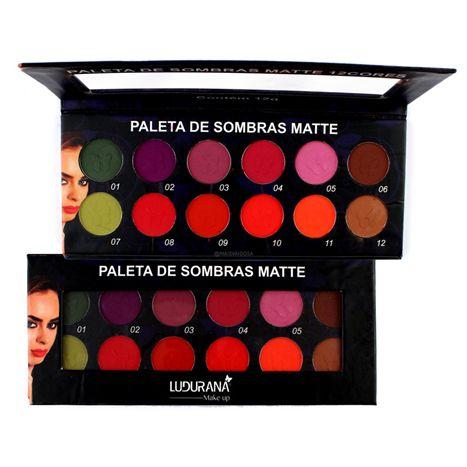 Paleta de Sombras Matte 12 Cores - Ludurana