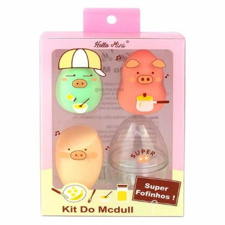 Kit 3 Esponjas com Estojo Mcdull - Hello Mini
