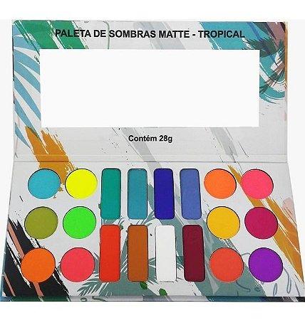 Paleta de Sombras Matte Tropical - Ludurana
