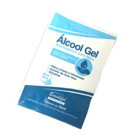 Sachê Álcool Gel 10ml - Face Beautiful