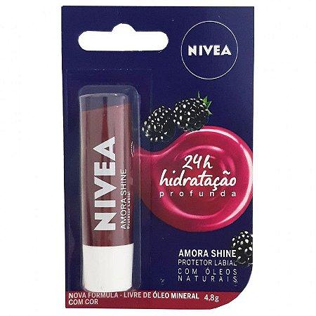 Protetor Labial Amora Shine 4,8g - Nivea