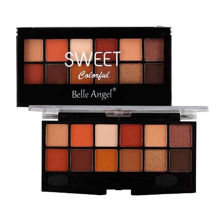 Paleta de Sombra 12 Cores Sweet Colorful Cor B - Belle Angel