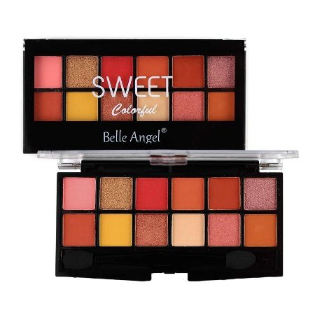 Paleta de Sombra 12 Cores Sweet Colorful Cor A - Belle Angel