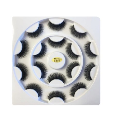 Caixa de Cílios Mink 5D com 8 Pares 09 - Ruby Anjo