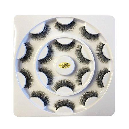 Caixa de Cílios Mink 5D com 8 Pares 05 - Ruby Anjo