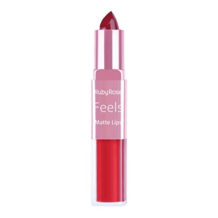 Batom Duo Matte Lips Feels 312 - Ruby Rose